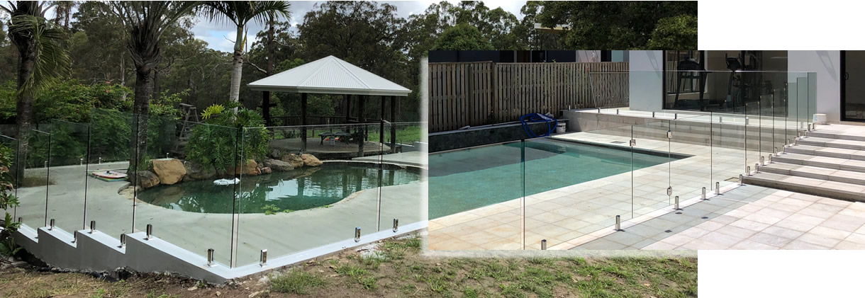 Raphs Glass Pool Fencing Brisbane Difficult Pool Fencing Site